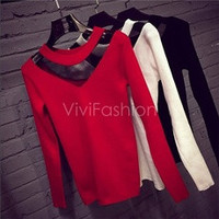 Fashion Women Round Neck Long Sleeve Sheer Mesh Patchwork Tops Blouse VVF [10239148563]