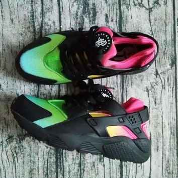 2016 New Nike Air Huarache Running Shoes Huaraches Rainbow Ultra Breathe Shoes  Multicolor Sneakers For Women Men Air Size 36-46