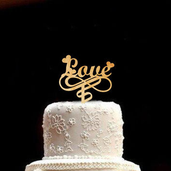 LOVE Wedding Cake Topper Rustic Wedding Cake Topper Wood Wedding Cake Topper Valentine Day Valentine gifts