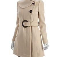 Soia & Kyo off white wool drill 'Katrina Z' belted coat | BLUEFLY up to 70% off designer brands