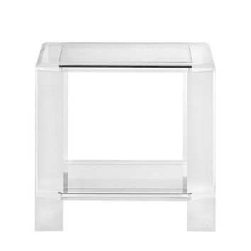 INTERLUDE LANGSTON ACRYLIC SIDE TABLE