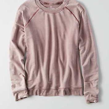 AEO Soft & Sexy Terry Sweatshirt, Red