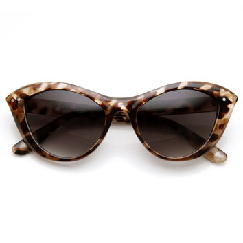 Womens Retro 1960's Fashion Era Cat Eye Sunglasses 9285