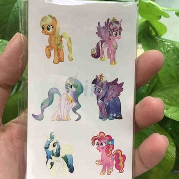 Waterproof Temporary Tattoo sticker  Unicorn Horse cute cat flower fish Dandelion Water Transfer fake tattoo for kids adults