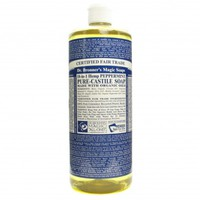 Dr. Bronner's Hemp Pure-Castile Soap, Peppermint, 32 fluid oz