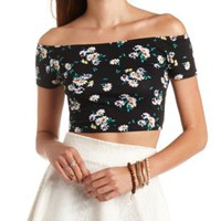 Printed Off-the-Shoulder Crop Top by Charlotte Russe