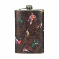 River's Edge Fly Fishing Stainless Pocket Flask