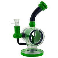"""10"""" StickyPunch Water Pipe + Stemless + Donut Recycler + Bent Neck + Color"""