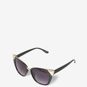 Black Metal Corner Sunglasses | Dorothyperkins
