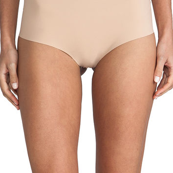 Commando Control Thong in Beige