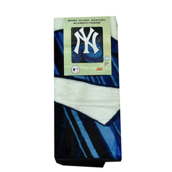 MLB New York Yankees 50x60 Royal Plush Raschel Throw Blanket