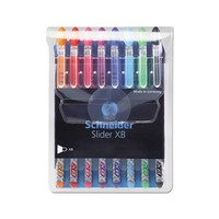 Slider Basic XB Ballpoint Pen, Set of 8, Assorted Colors (151298)