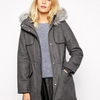 Oasis | Oasis Melton Parka at ASOS