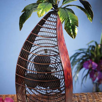 Table Fan - Palm Tree