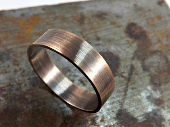 bronze ring rustic wedding ring from crazyass jewelry