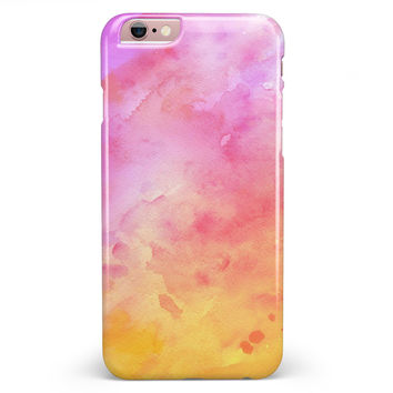 Pink 9739 Absorbed Watercolor Texture iPhone 6/6s or 6/6s Plus INK-Fuzed Case