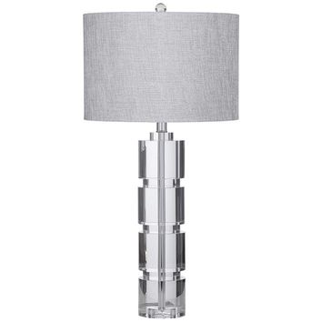 Bethany Crystal Fluted Glass Column LED Table Lamp - #68C71 | Lamps Plus