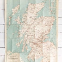 Vintage Scotland map, Geographia New Map of Scotland, Very Large Map, Main Roads Map, Gift for Guys