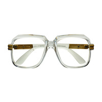 Transparent Clear Frame Old School Square Aviator Glasses Frames A268CL