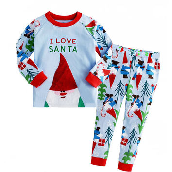 Long Sleeve Home Christmas Bottom & Top Set [9283976132]