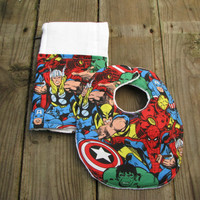 Marvel Comics Baby Bib And Burp Cloth Set, Baby, Accessorie, Children, Geekery