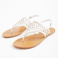 Hooded Laser Cut Sandals | Wet Seal