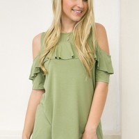 Simple Ruffle Top | Green