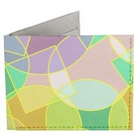 Stained glass geometric pattern billfold wallet