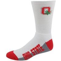 Ohio State Buckeyes White (506) 10-13 Tall Socks