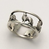 Open Wolf Ring