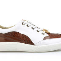 Irvin Genuine Ostrich And Calfskin Sneaker by Belvedere