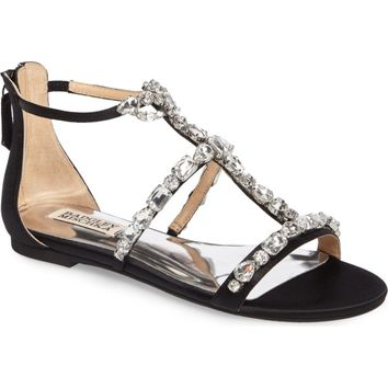 Badgley Mischka Warren Crystal Embellished Sandal (Women) | Nordstrom