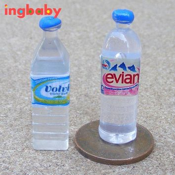 DOLLHOUSE  Simulation Miniature Model Of Pure Mineral Water Children Home Toy Accessories Resin Mini Mineral Water WJ981 ingbaby
