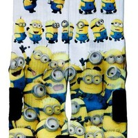 Minions On Custom Nike Elite Socks
