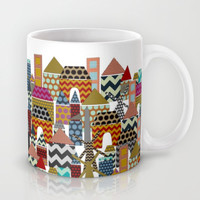 geo town Mug by Sharon Turner
