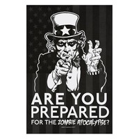 Zombie Uncle Sam Poster