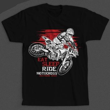 Eat Sleep Ride Motocross - #Extreme Sport - Motorcycle T-shirt
