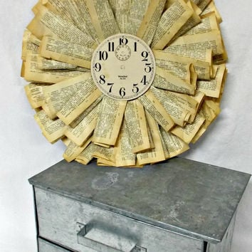 Rustic Dictionary Paper Wreath - Shabby Chic - Vintage Wreath - Paper Wreath - Farmhouse - Home Decor - Dictionary Page - Antique Book