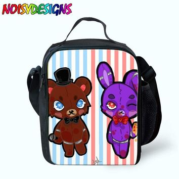 Five Night At Freddy Lunch Bags For Women Kids Chica Figure School Picnic Boys Girls Insulated Termica Food Bag