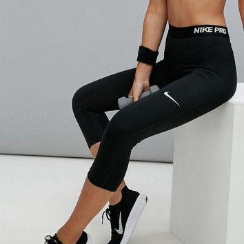 VLX85E Fashion Online Nike Pro Training Capri Leggings In Black