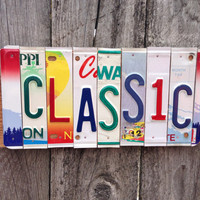 Recycled. License Plate. Room Decor. Sign. Wall hanging. Custom Name. Handmade.Family name. door hanging.