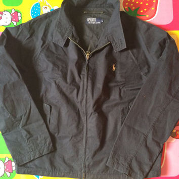 Vintage Polo Ralph Lauren Harington Jacket Dark Blue