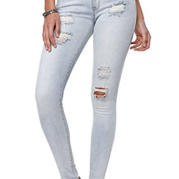 Bullhead Denim Co Pixie Blue Skinniest Jeans - Womens Jeans - Blue -