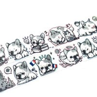 French Bulldog and friends washi tape