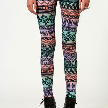 Carla Aztec Print Leggings From Boohoo