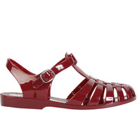 Angelica Jelly Sandal - Burgundy