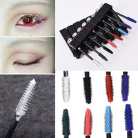 Long Lasting Waterproof Mascara Lengthen Eyelashes Mascara Easy Remove Colorful Mascaras Makeup