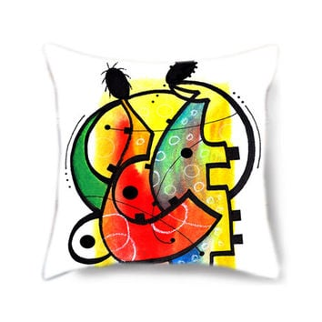 Home decor pillow cover, throw pillow, art pillow, decorative pillow for bed, colorful pillow, pillow cover, gift for musician, musical gift