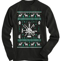Fire Helmet Ugly Christmas Sweater