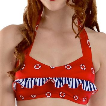 Grace Life Rings Bikini Top by Fables by Barrie (Red)